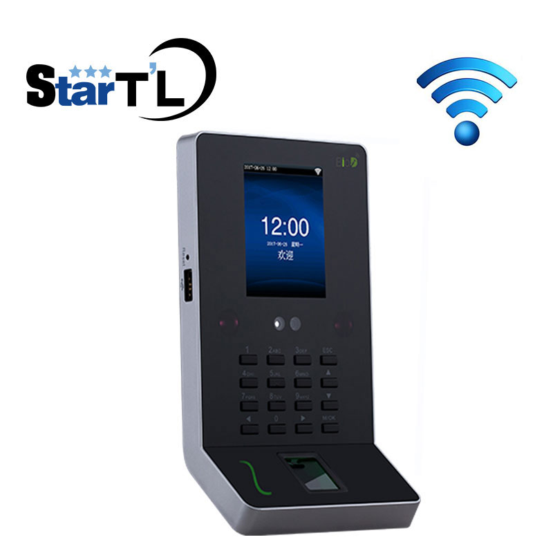 цена Free Shipping ZK UF600 Face Recognition Time Attendance And Access Control Fingerprint Employee Attendance Time Clock With WiFi онлайн в 2017 году