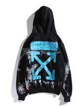 Off white hoodie brand hand-painted