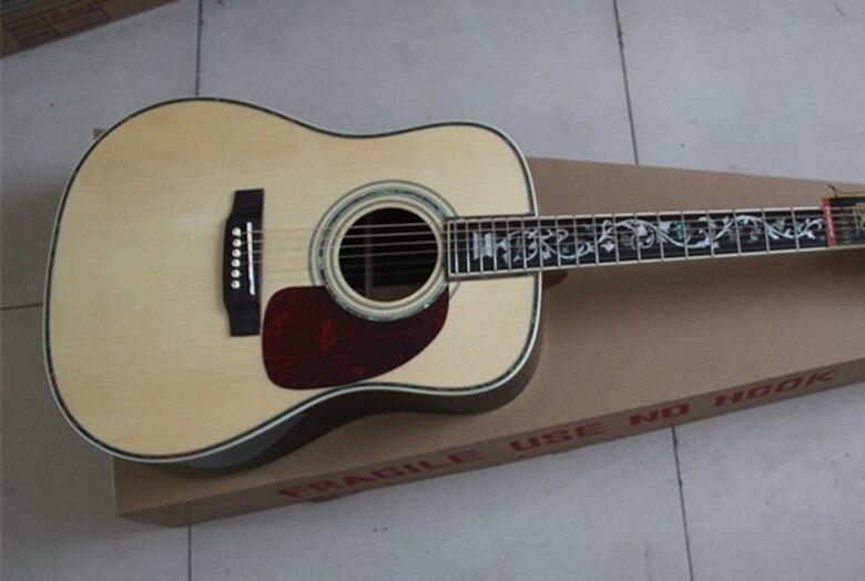 2019 nouvelle usine personnalisée 41 ''Firehawk solide Spurce haut érable côté arrière guitare acoustique naturelle peut ajouter Fishman pick EQ