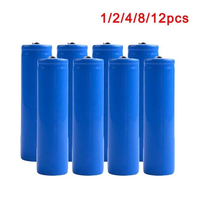 Centechia 1/2/4/8/12pcs 18650 Battery 3.7v 2200mAh Capacity Battery Li-po Rechargeable 18650 Battery For Car/toys/Flashlight