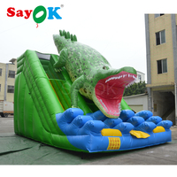 Free Shipping Giant Inflatable Slide 7x5m Crocdile Water Slide for WATER PARK