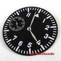 38 9 мм черный циферблат синий светящийся циферблат fit ETA 6497 мужские часы D55 (циферблат + стрелки)