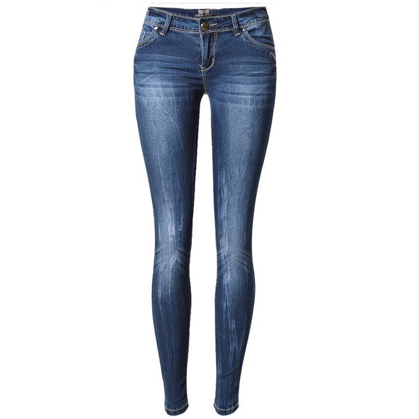 women skinny jeans pants women low waist elasticity pencil jeans ladies cuffs denim pants ripped. Black Bedroom Furniture Sets. Home Design Ideas