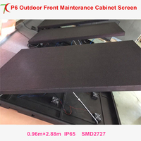 Front mainterance customizable P6 outdoor waterproof metal cabinet display LED video wall