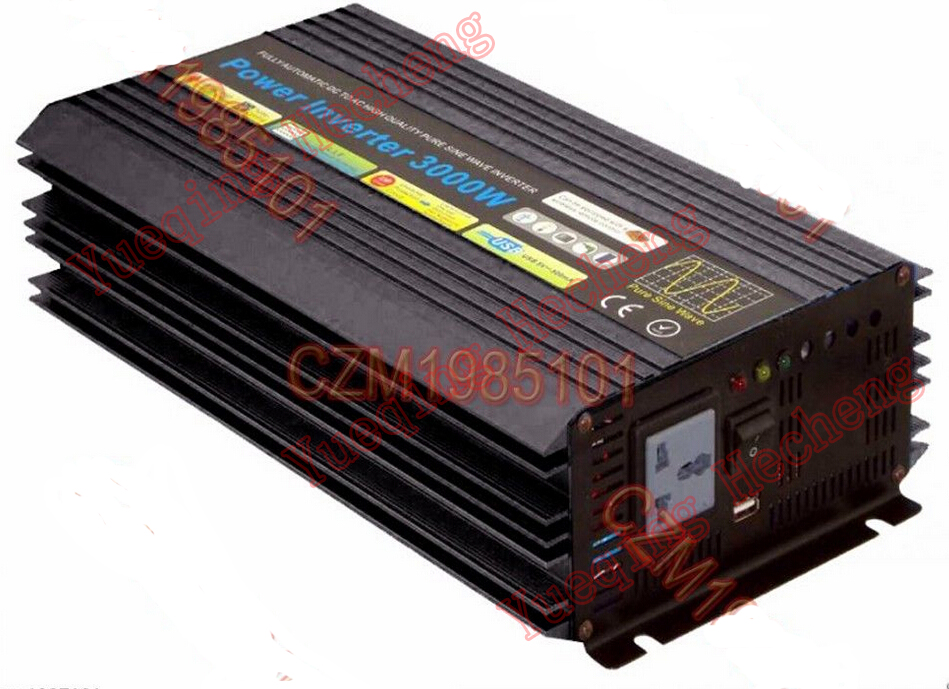 New 3000W DC <font><b>36V</b></font> to AC <font><b>220</b></font>- 240V Power Pure Sine Wave Inverter image