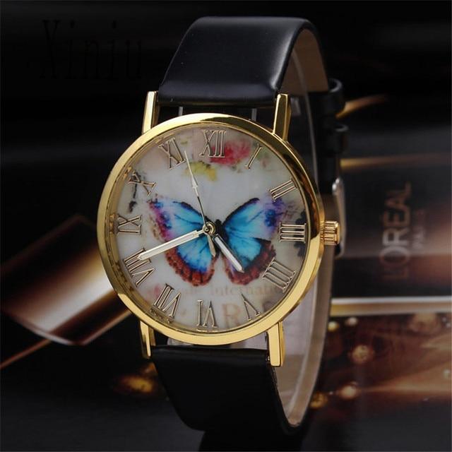 Relojes Mujer 2017 Fashion Women Dress Bracelet Watches Quarzt Clock Butterfly S