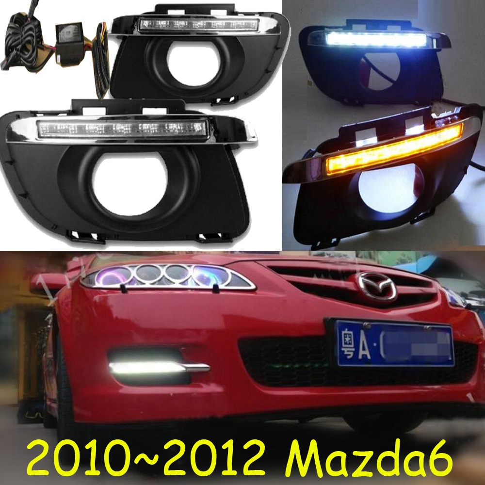 Bumper lamp for 2006~2012 <font><b>mazda</b></font> <font><b>6</b></font> daytime <font><b>light</b></font>,car accessories,LED,daylight MAZD6 fog <font><b>light</b></font>,mada;CX-5 image