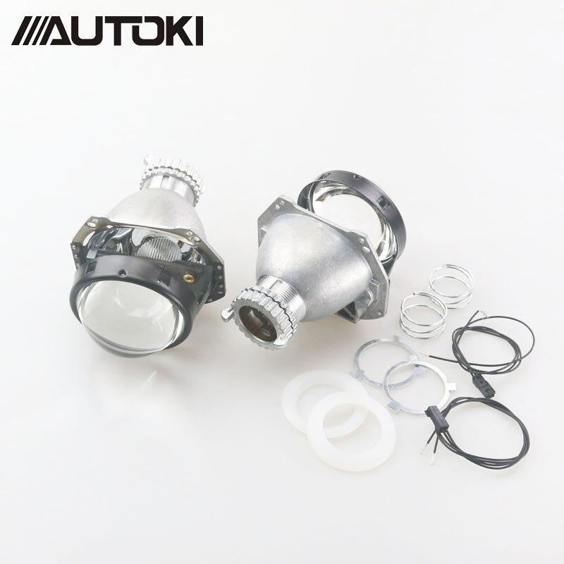 Autoki Auto head light 3.0 pouce Bi xénon Objectif Du Projecteur remplacer G5 HELLA H4 installation Sans Perte Non-destructive