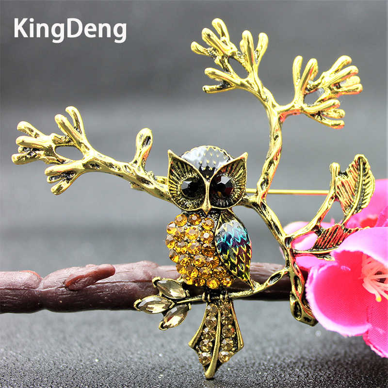 Owl Brooches For Women Skyrim Cute Accessories Rhinestone And Pearl Enamel Pins Gifts Lapel Pin Lovers Brooch Beautiful Jewelry