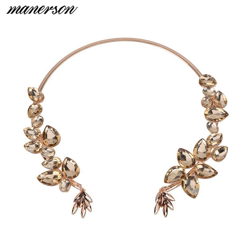 148c83508617 Manerson nueva moda cristal collar Collares y colgantes gargantilla cristal  Maxi declaración Collar para las mujeres joyería