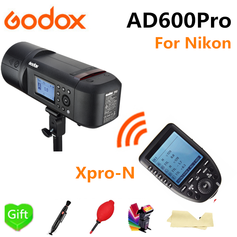 Godox AD600Pro TTL Outdoor Li-Battery 2.4G Wireless X System Studio Flash Strobe Light + Xpro-N Flash Trigger for Nikon Camera цена