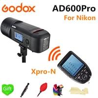 Godox AD600Pro ttl открытый Li Батарея 2,4 г Беспроводной X Системы Студия флэш Strobe Light для Nikon Камера + xpro N вспышка триггера