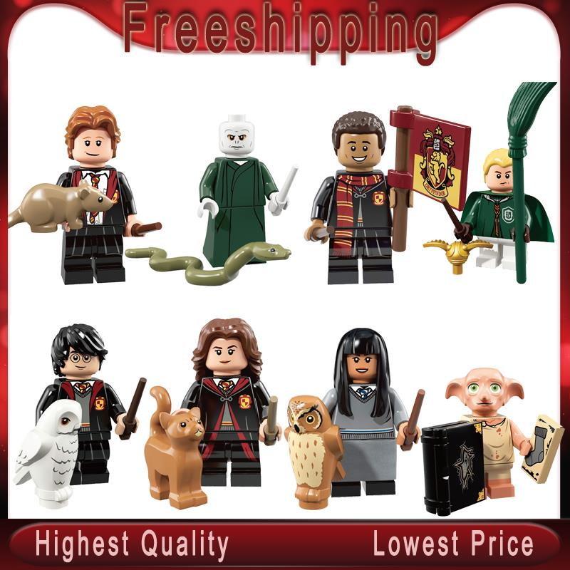Harry Series Potters Dobby Moody Dumbledore Quirrell Filch Voldemort Dean Thomas Building Blocks Gift Toys  WM6040
