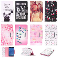 Cartoon Butterfly Flower Pattern Case For Samsung Galaxy Tab 4 7 0 T230 Cover PU Leather