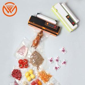 Image 5 - WOMSI Vacuum Packing Machine Mini Automatic Food Vacuum Sealer Own Cutting Knife Bag Slot Vacuum Packer Including 10Pcs Bags