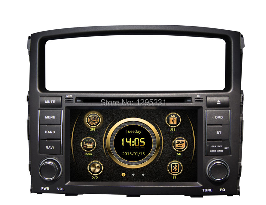 Mitsubishi Pajero/V97/V93(2006-2011)With GPS/Bluetooth/Radio/AM/FM/IPOD/Analog TV/DVD/USB/V-6CD/Wheel control/3G/Gift Free Map - Good partners Store store