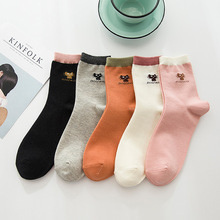 New simple tube socks fashion cute cat cartoon cotton casual