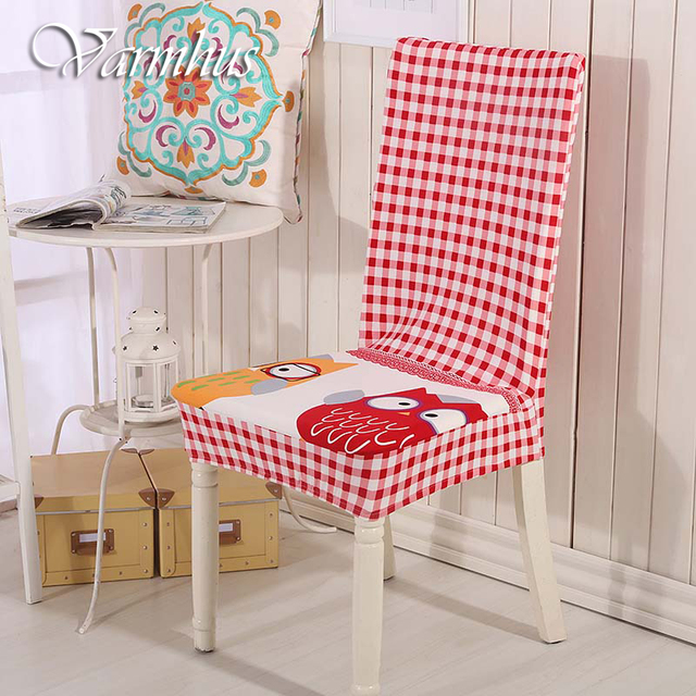 Varmhus Colorful Stretch Elastic Chair Cover For Dining Room Wedding Banquet Polyester Covers Washable Seat