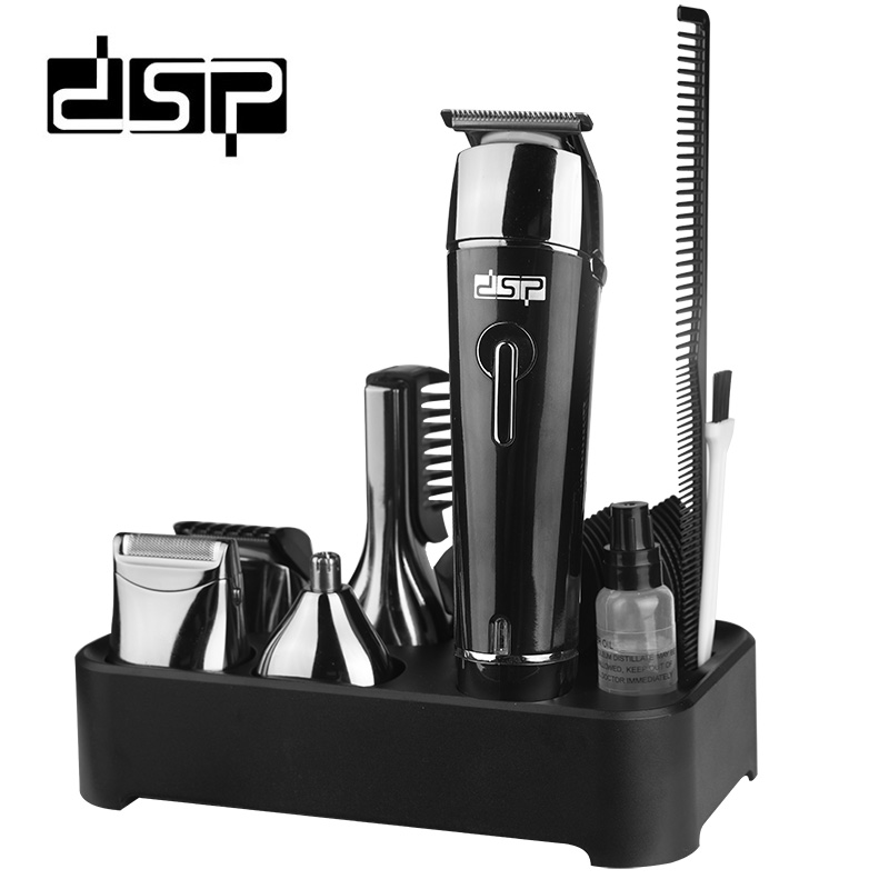 DSP 5 in 1 Rechargeable Hair Trimmer Titanium Hair Clipper Electric Shaver Beard Trimmer Men Styling Tools Shaving Machine 5 in 1 hair shaver razor beard trimmer rechargeable hair trimmer clipper set professional men styling tools shaving machine
