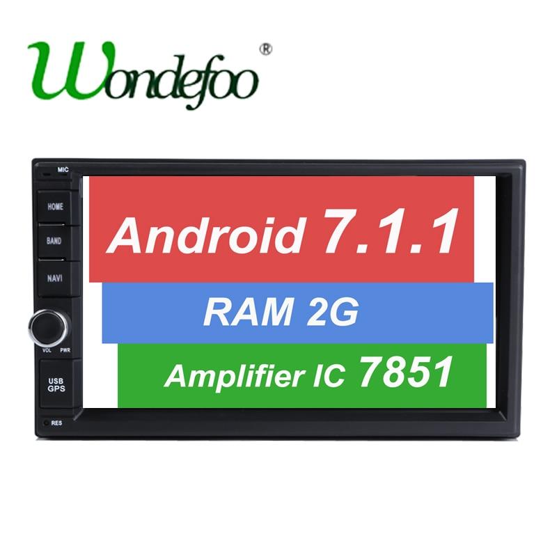 """imágenes para 7 """"7.1.1 Android RAM 2G 1024*600 de Cuatro Núcleos pantalla táctil 2 DIN universal car radio gps con wifi BT audio estéreo SIN DVD JUGADOR"""