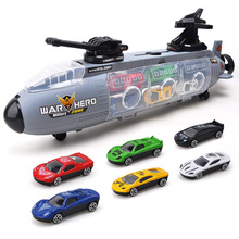 Mini Alloy Car Model Building Kits Classic Toy Suit Portable Submarine Shape Storage Box Toys for Children 2017 new clasic military toy model parking lot toys car storage submarine animals play house kids toy submarine storage car