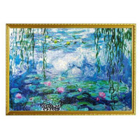 Hot Sale Puzzle Toy Paper Jigsaw Puzzle 1000 Pieces Oil Painting Water Lily Puzzles For Adult