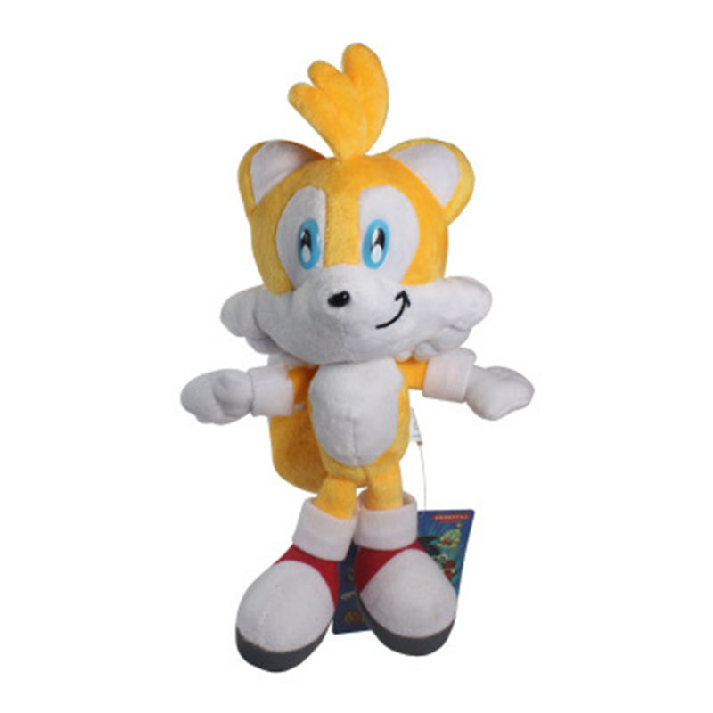 AOSST Sonic the Hedgehog Fox Tails Ultimate Flash Anime Doll Plush Toys 25CM Fox Stuffed Animals Kids Gifts Soft Toys For Boys