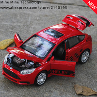 1 32 Free Shipping Ford Focus Alloy Diecast Car Model Pull Back Toy Car Model Electronic