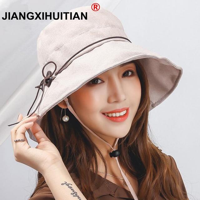 fashion new Women Bowknot Sun Hat d325f55e38a