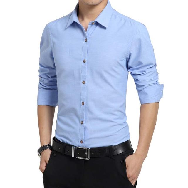 Los nuevos mens clothing manga larga para hombre camisas slim fit camisa masculina color sólido oxford camisas de buena calidad 5xl