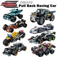 Decool legoings задерживаете техника Car Racer MOC грузовик DIY строительные блоки детей игрушки для Детские кирпичи суперкар подарок на Новый год