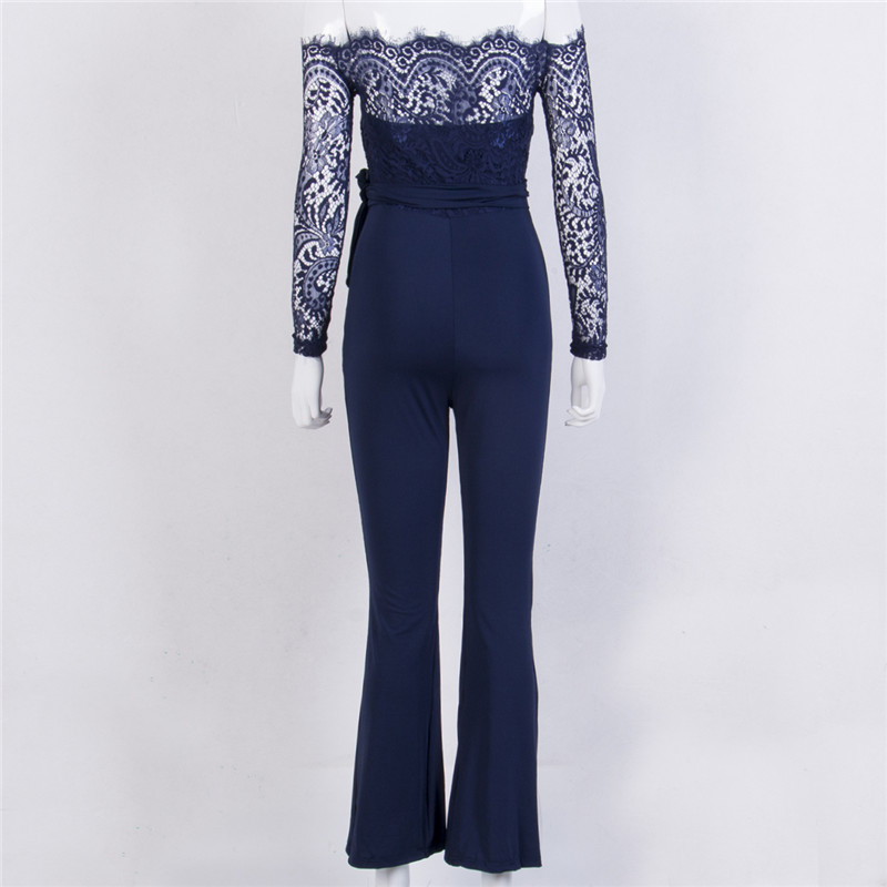 1334d29f81 Super Spring Summer Jumpsuits Women High Quality Lace Patchwork ...