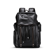 New Quality Male PU Leather Laptop Book Backpack Mens Fashion Large Capacity Male Backpacks School Bag Backpack For Teenager ccz 2017 new arrival pu leather backpacks for men and women fashion school bag male water backpack 14 laptop backpack bk8003