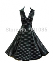 free shipping R1143 Rockabilly Pin Up Vintage 50's Prom TARTAN ZIPPER DRESS SIZE 8-24
