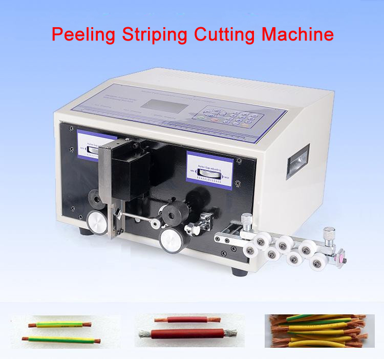 SWT508E Automatic strip wire machine skinning cutting wire computer stripping machine 0.1 to 8mm caiman swt 50ex