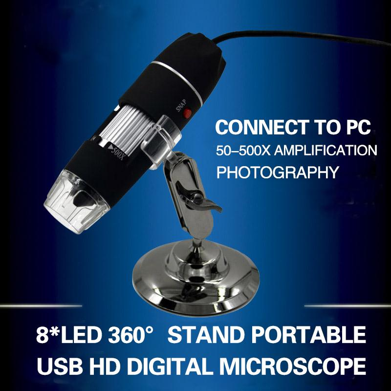 Cewaal New Portable USB 8 LED 500X 2MP font b Digital b font Microscope Endoscope Magnifier