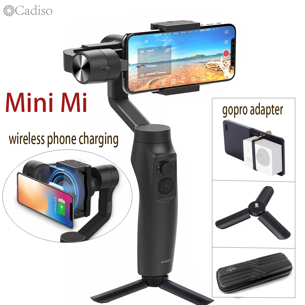 Cadiso Moza Mini-Mi 3-Axis Handheld Gimbal smartphone video stabilizer for iPhone X 8 Plus 8 Samsung Huawei Gopro Action Camera image