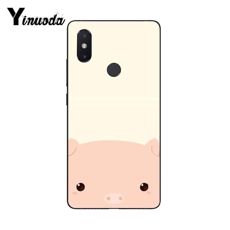 Yinuoda divertido lindo encantador cerdo de Coque caja del teléfono de la cáscara del teléfono para Xiaomi mi 6 mi x2 mi x2S Note3 8 8SE redmi 5 5 Plus Note4 4X Note5