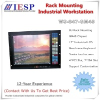 8U 19 Rack Mount Industrial Computer,17 LCD,Touchscreen,13 slot, P7550 CPU, 2GB RAM, 320GB HDD, industrial workstation