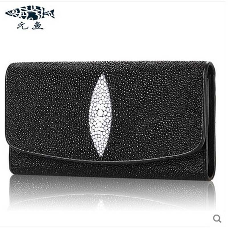yuanyu 2018 new hot free shipping Pearl fish skin long women clutches euramerican fashion leisure female clutches yuanyu 2018 new hot free shipping python leather women purse female long women clutches women wallet more screens women wallet