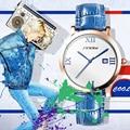 SINOBI Fashion Women Big Wrist Watches Leather Watchband Top Luxury Brand Ladies Geneva Quartz Clock Female Wristwatch 2017 New