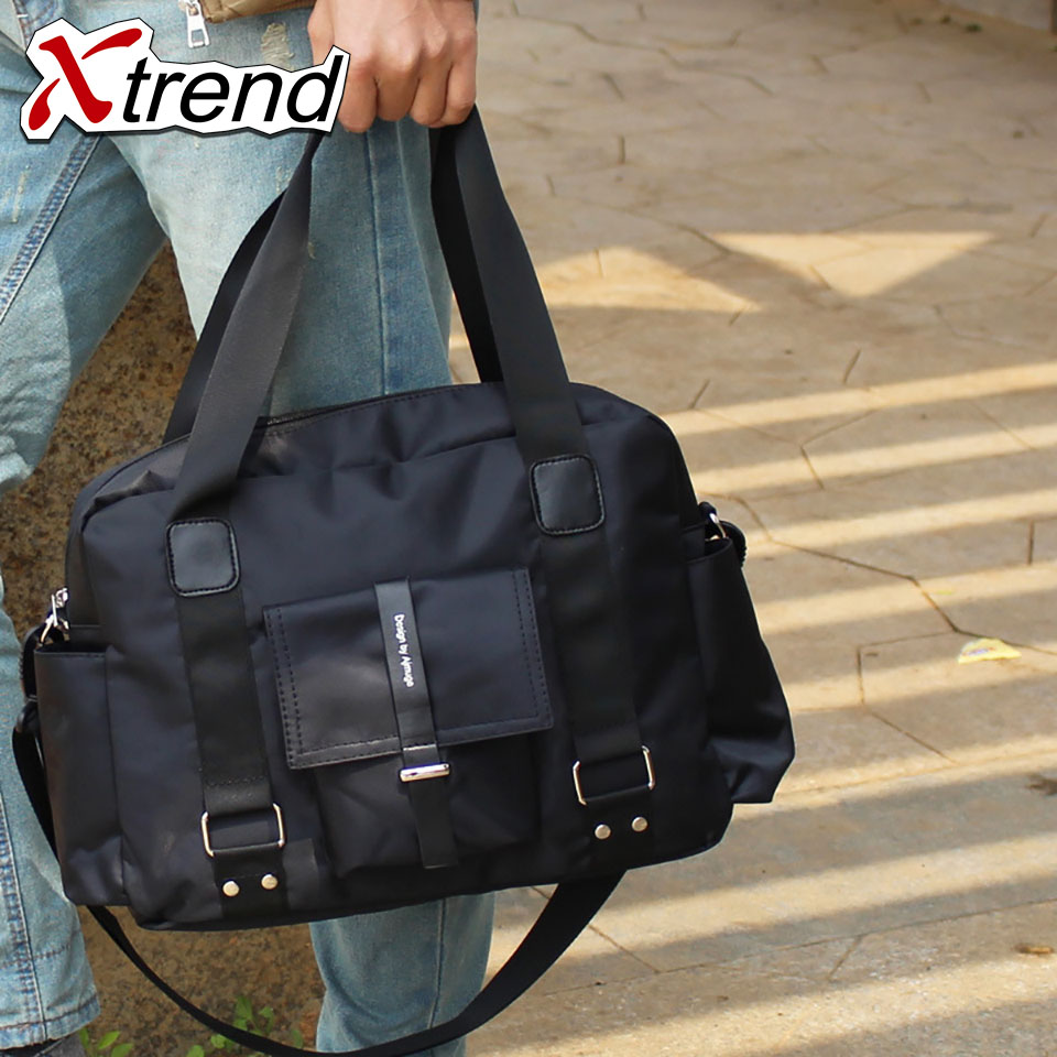 Xtrend Casual Men Handbag Nylon Shoulder Bags Mens Bag 14 inches Laptop man Totes Crossbody bags Shoulder straps