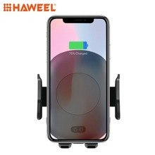 HAWEEL Infrared Sensing Automatic Car Air Outlet Bracket Qi Standard Wireless Charger