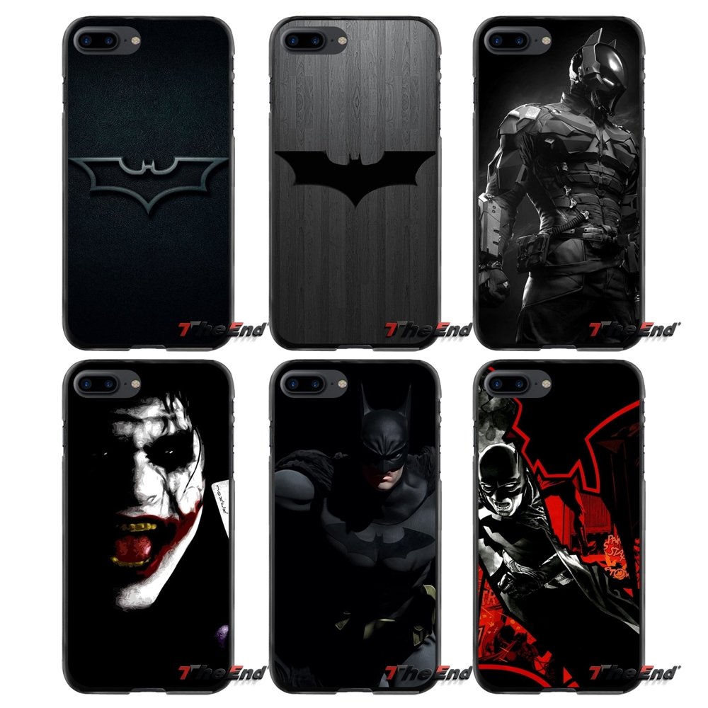 For Apple iPhone 4 4S 5 5S 5C SE 6 6S 7 8 Plus X iPod Touch 4 5 6 Accessories Phone Shell Covers Black Batman