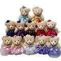 Comercio al por mayor 10 Unids/lote 12 CM lovely girls peluche doll cosas y juguetes de peluche mini ramos oso de juguete para el regalo promocional