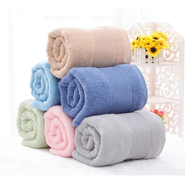 Ninguno toque 100% algodón toalla de baño más tamaño toalla de baño del espesamiento suave