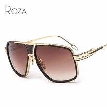 1850a6235b4e7 ROZA Óculos De Sol Dos Homens do Estilo do Steampunk Óculos De Armação De  Metal Retro Marca Designer Óculos de Sol UV400 QC0336