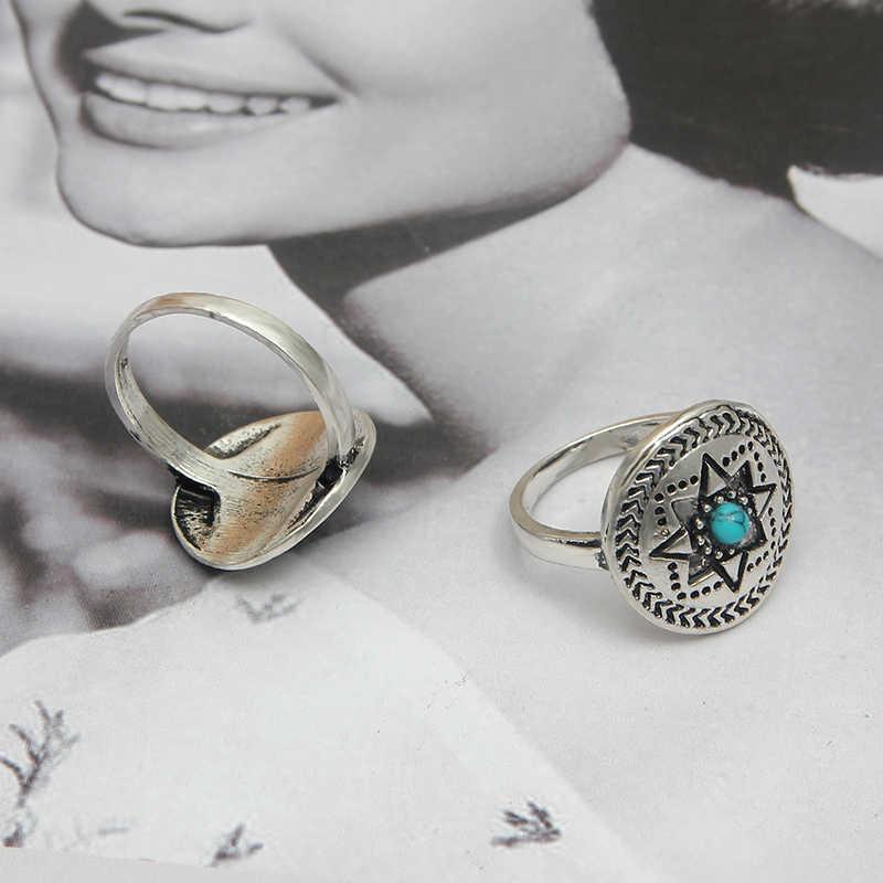SUKI esqueleto Punk hombres Bague plata calavera anillos gótico hombres cristal encanto anel caveira aleación de Zinc anillo masculino Halloween joyería