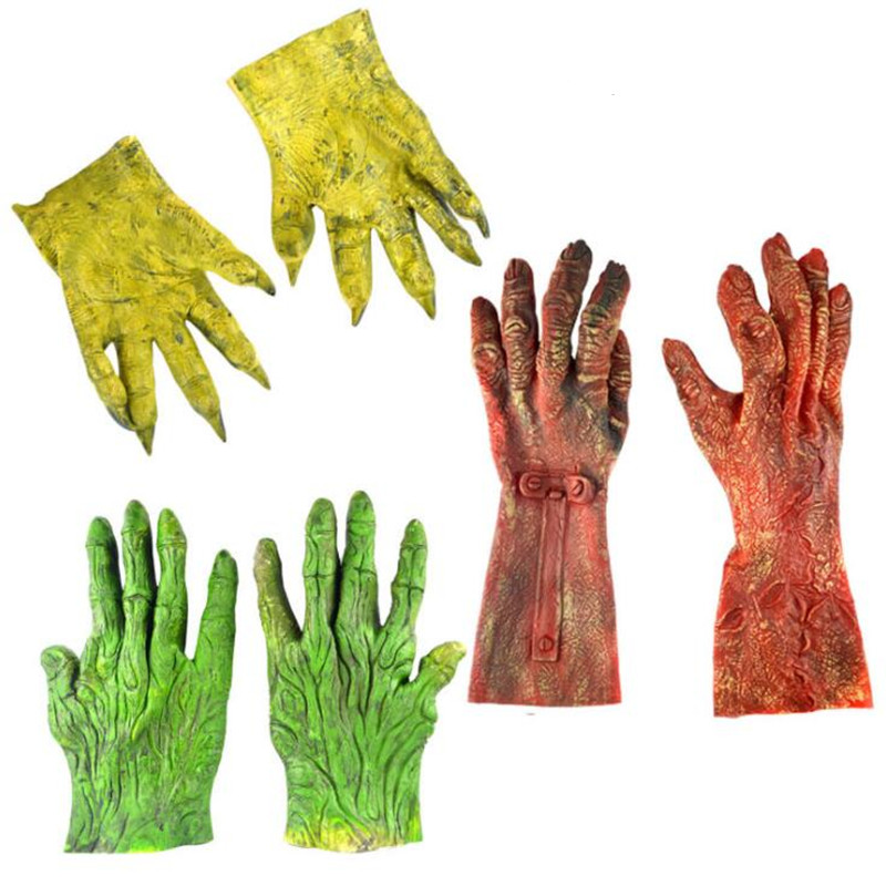 Halloween Scary Monster Gloves Adults Kids Performance