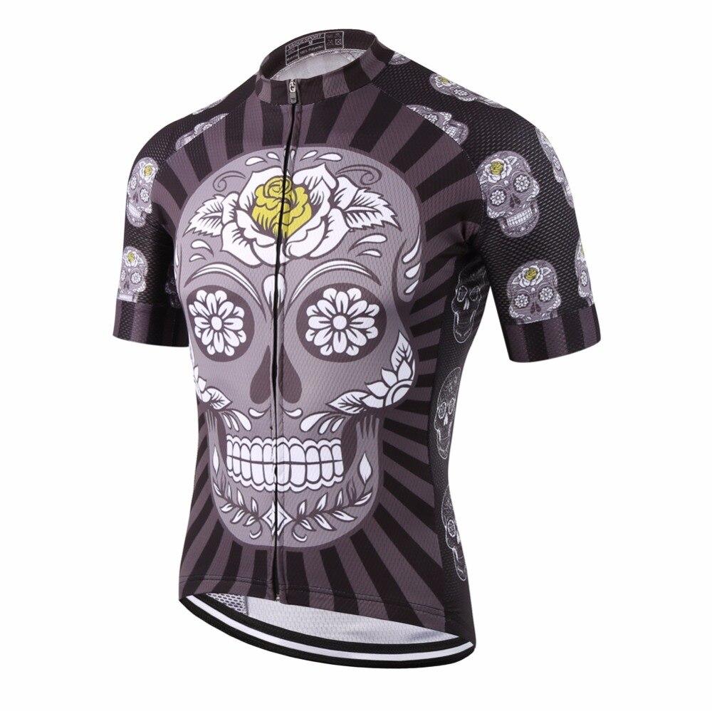 KEMALOCE Kurzarm Nationalen Team Compression Radfahren Jersey Ciclismo Top Beliebte Schädel Fahrrad Jersey Schwarz Rennen Bike Shirts